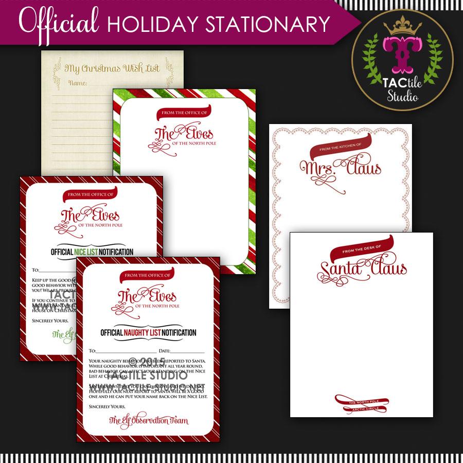 Free Printable Christmas Stationary.Free Printable Holiday Stationary