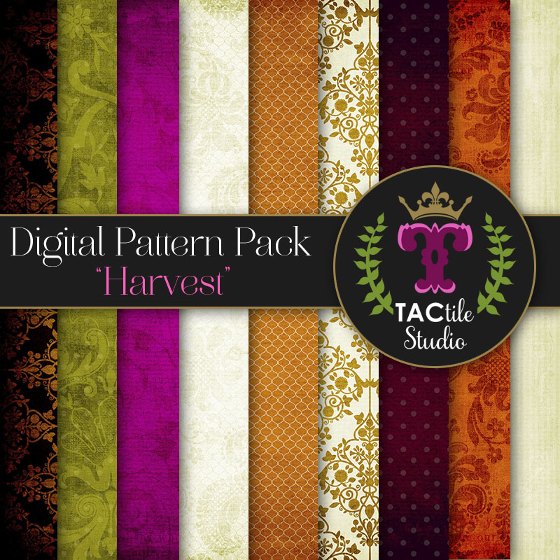 Harvest Digital Paper Pack