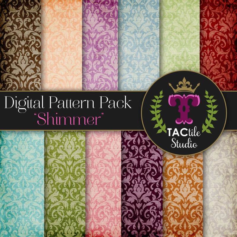 Shimmer Digital Paper Pack