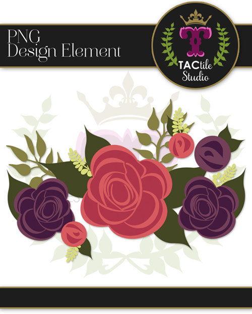 Fall Floral Design Element #2